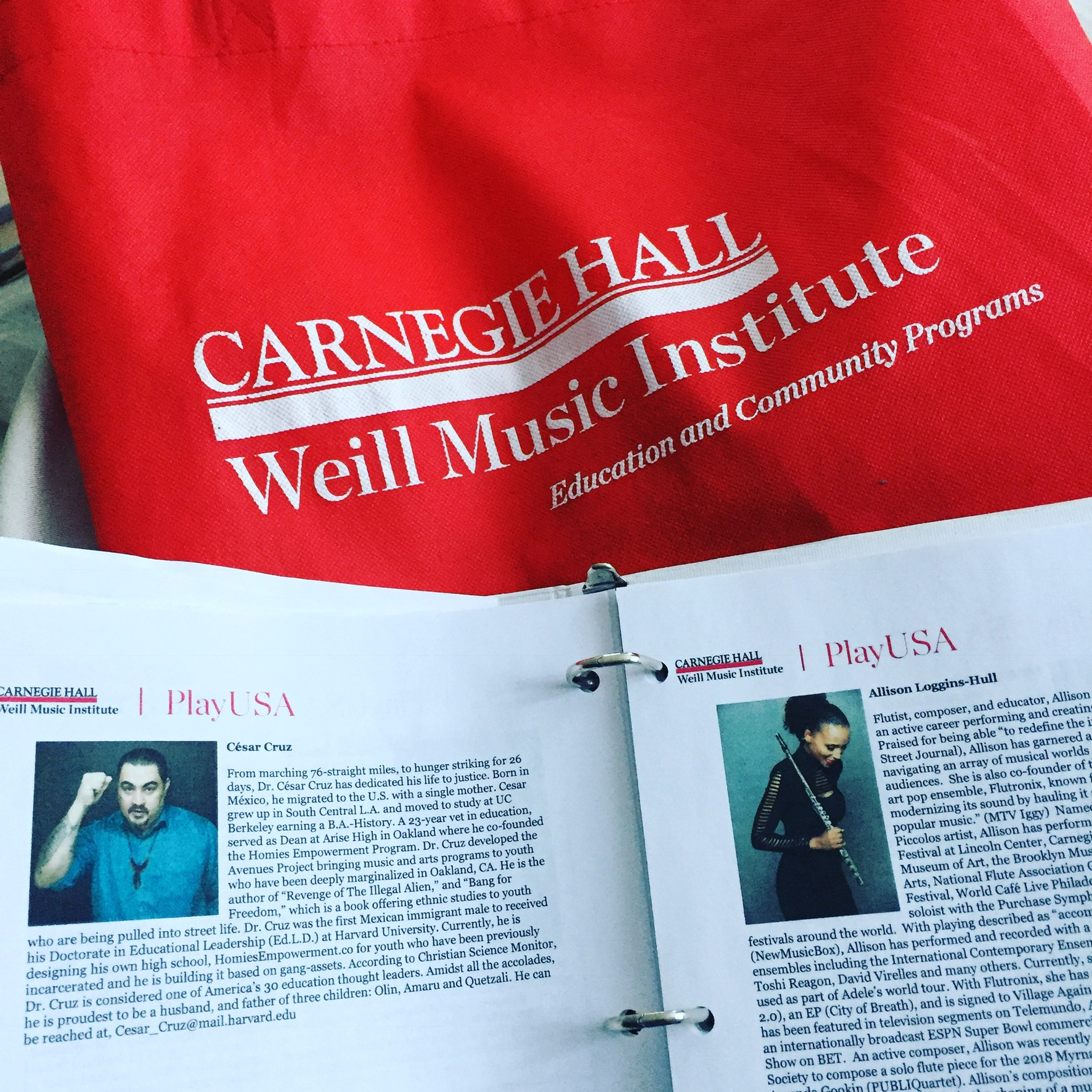 Carnegie Hall's PlayUSA features Allison Loggins-Hull on faculty.